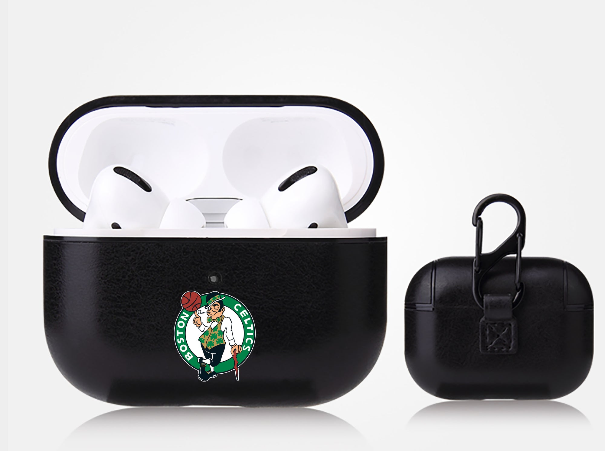 Boston Celtics Black Apple Air Pod Pro Leatherette