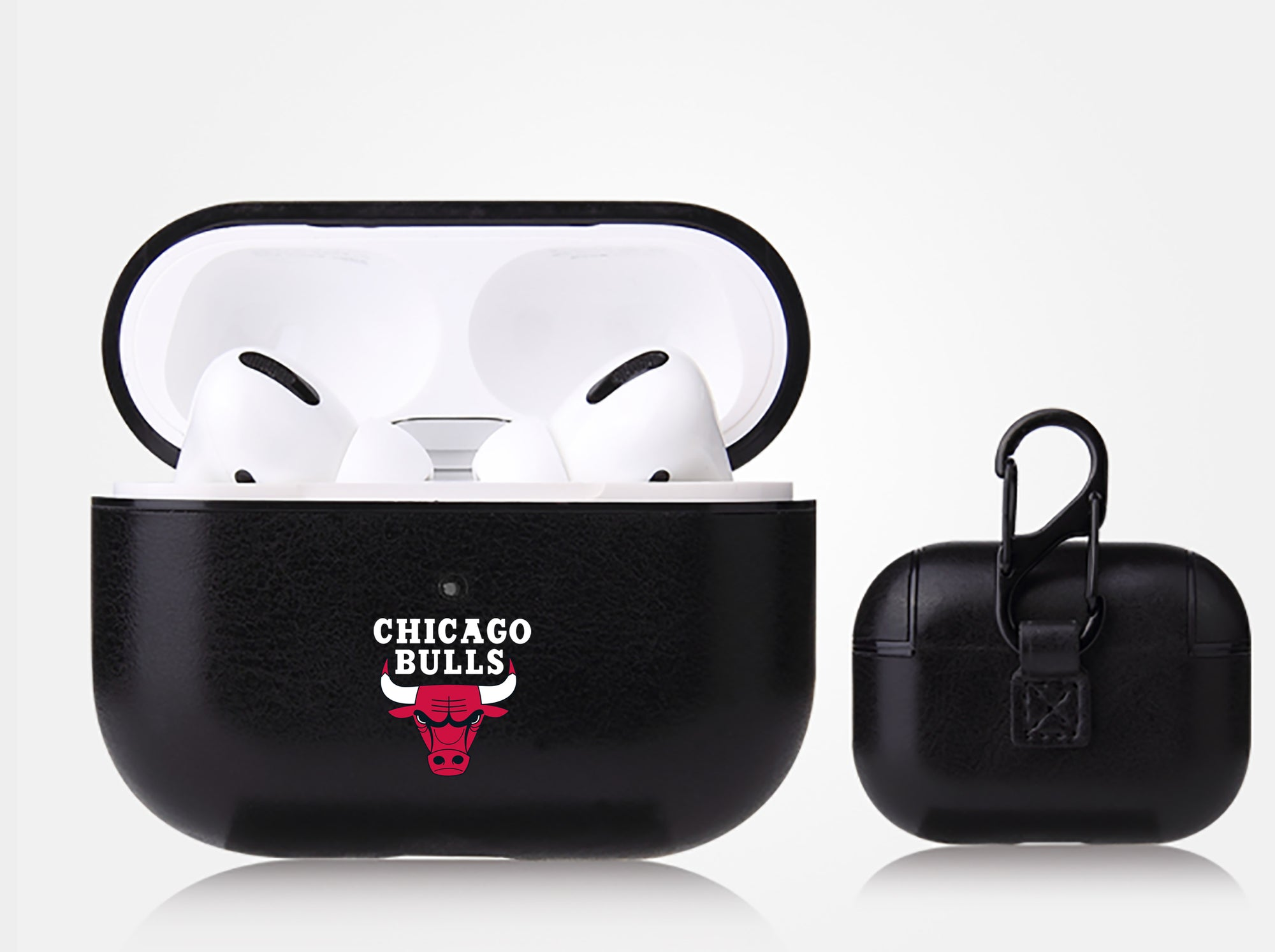 Chicago Bulls Black Apple Air Pod Pro Leatherette
