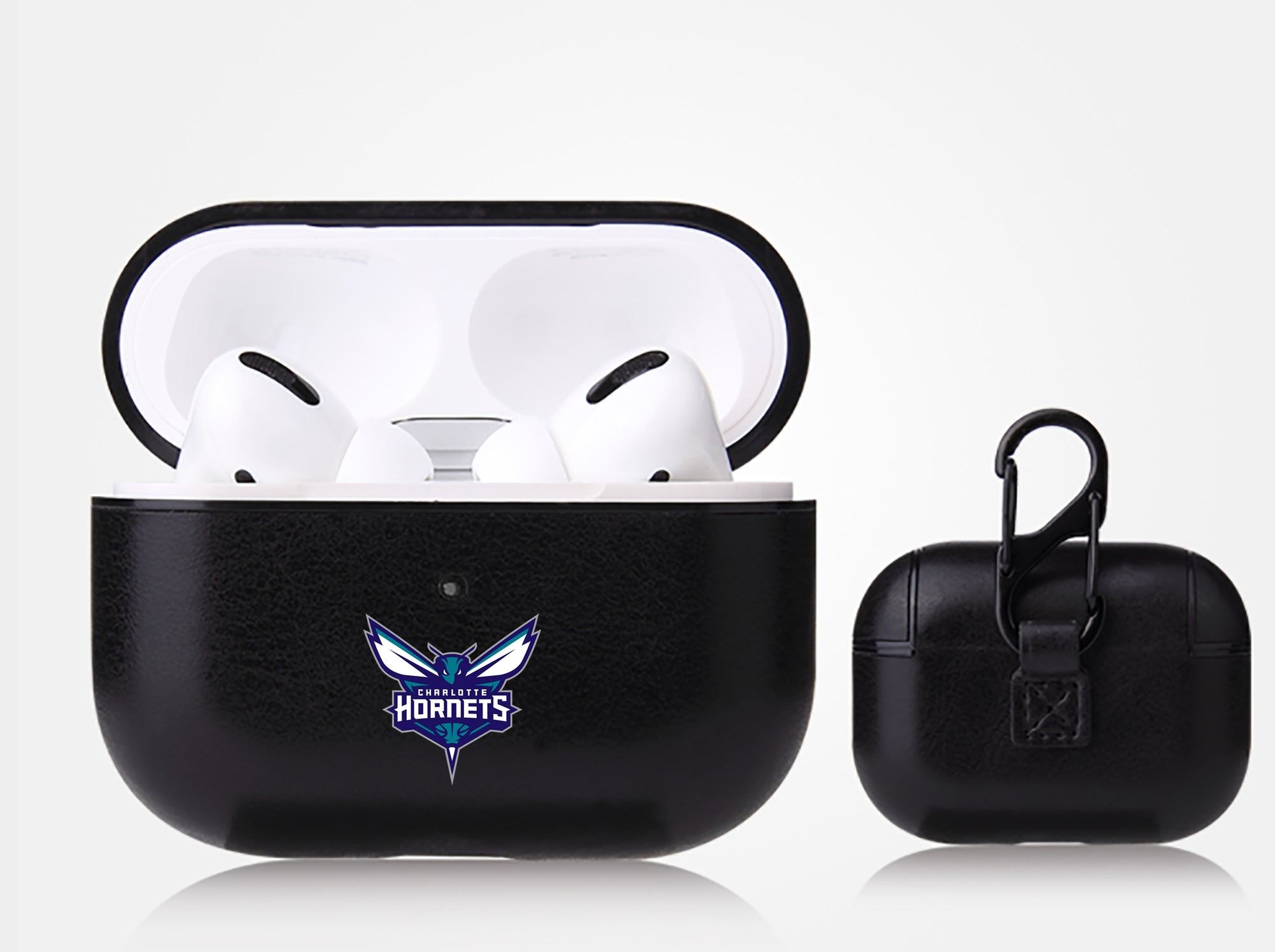 Charlotte Hornets Black Apple Air Pod Pro Leatherette