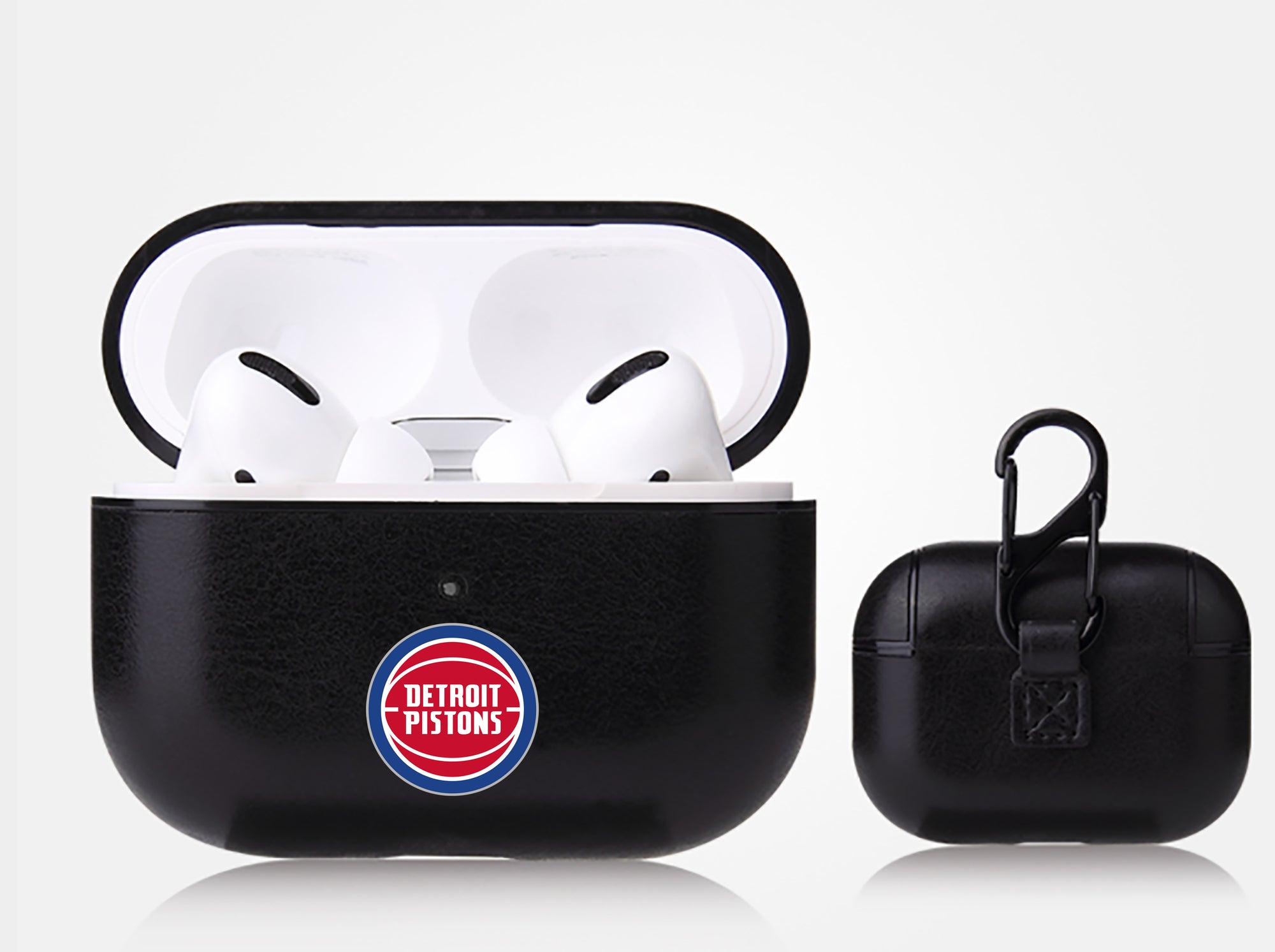 Detroit Pistons Black Apple Air Pod Pro Leatherette