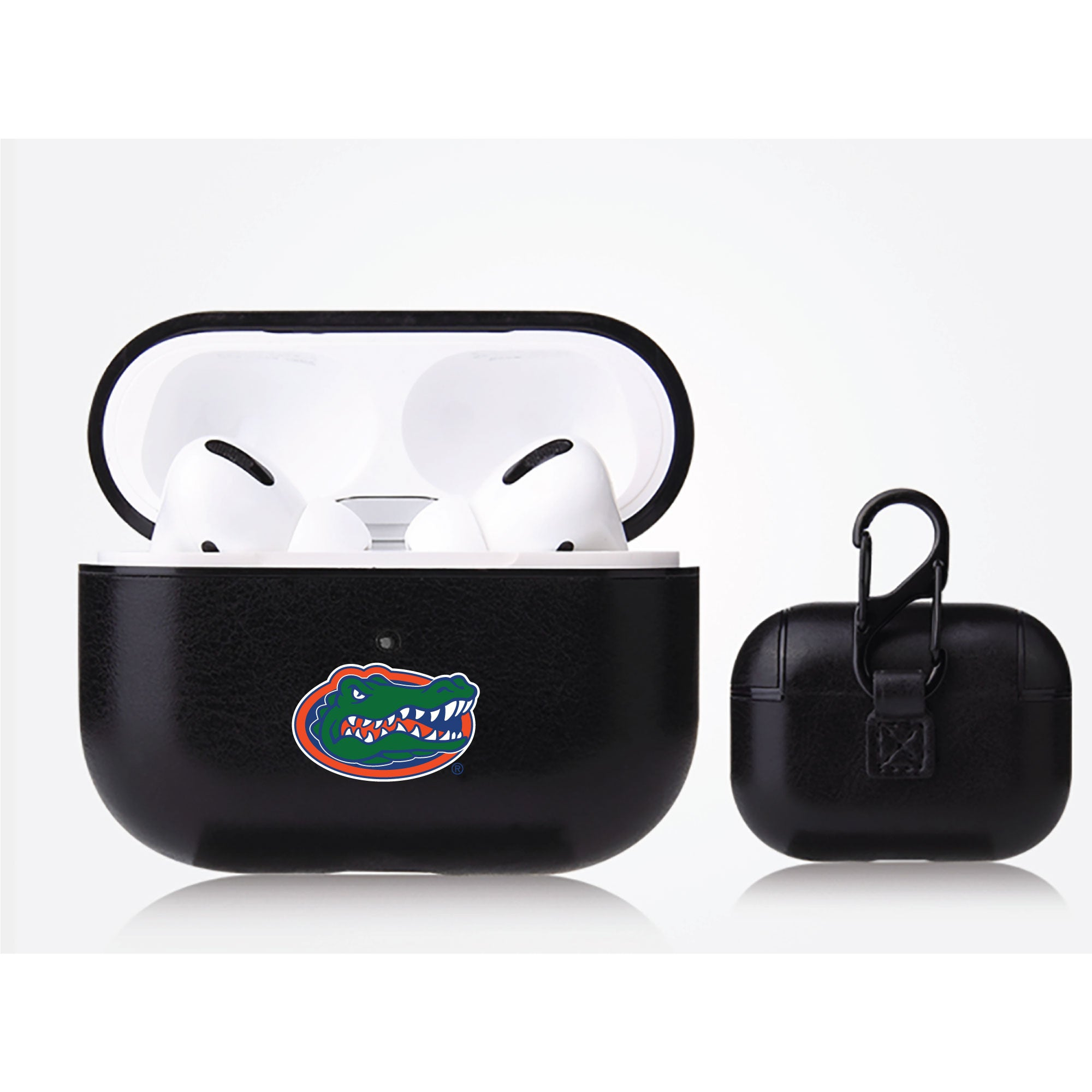 Florida Gators Primary Mark design Black Apple Air Pod Pro Leatherette