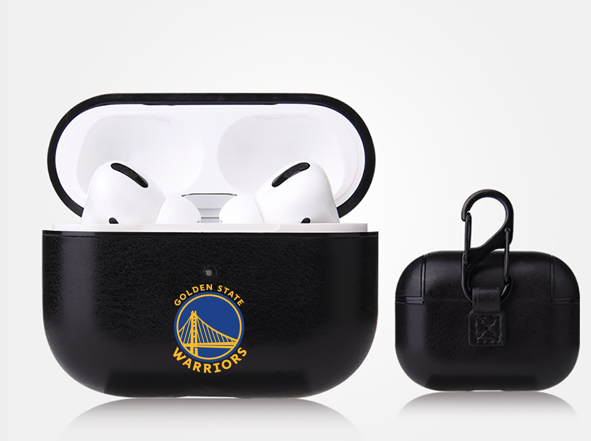 Golden State Warriors Black Apple Air Pod Pro Leatherette