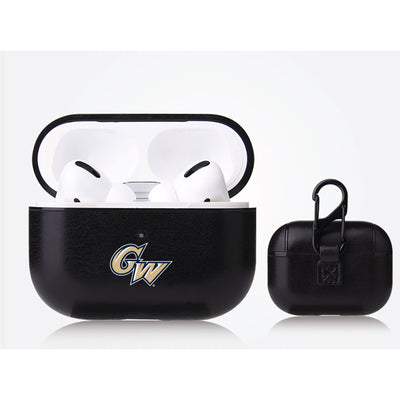 George Washington Colonials Primary Mark design Black Apple Air Pod Pro Leatherette