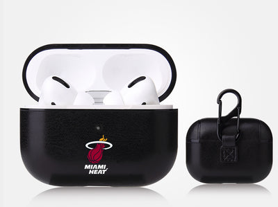 Miami Heat Black Apple Air Pod Pro Leatherette
