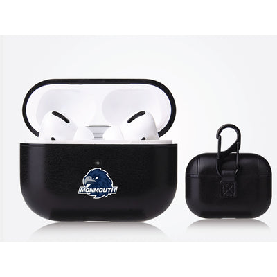 Monmouth Hawks Primary Mark design Black Apple Air Pod Pro Leatherette