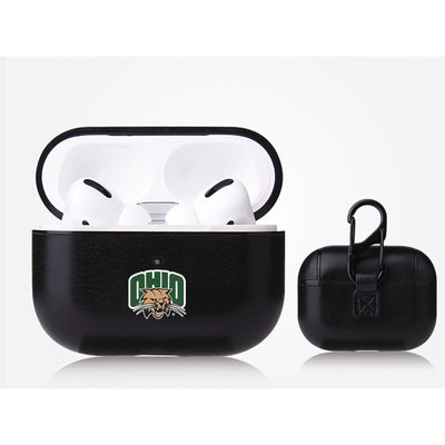 Ohio University Bobcats Primary Mark design Black Apple Air Pod Pro Leatherette