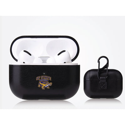 San Francisco State U Gators Primary Mark design Black Apple Air Pod Pro Leatherette