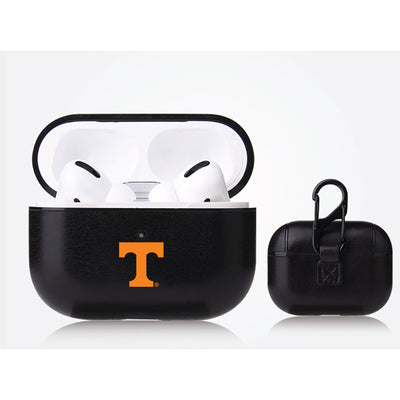 Tennessee Vols Primary Mark design Black Apple Air Pod Pro Leatherette