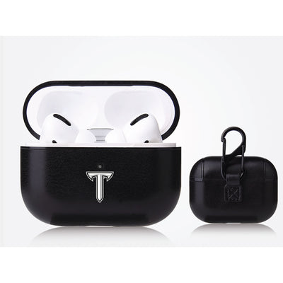 Troy Trojans Primary Mark design Black Apple Air Pod Pro Leatherette