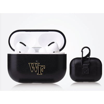 Wake Forest Demon Deacons Primary Mark design Black Apple Air Pod Pro Leatherette