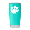 Clemson Nation -  Teal Powder Coated 20oz