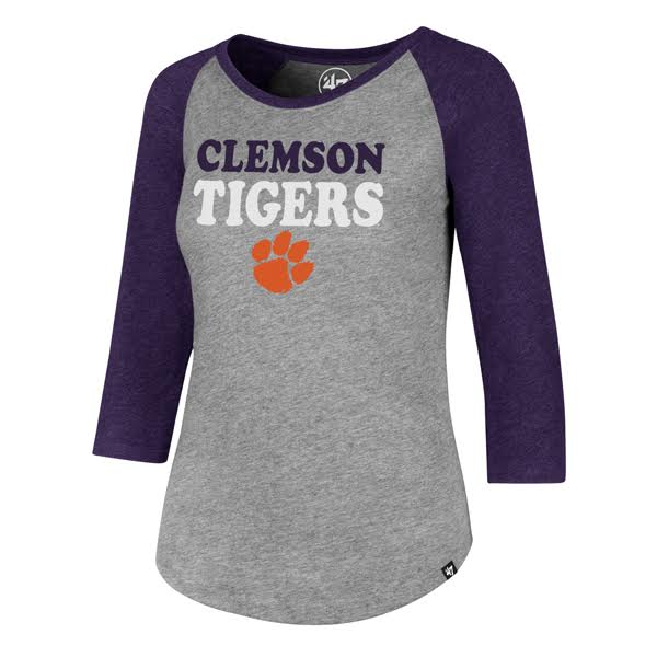 Clemson Ladies Raglan Tee