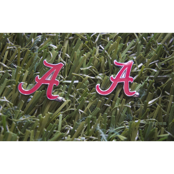 "Alabama ""A"" Post Earrings *"