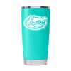 Gator Nation Tumbler - Teal Powder Coated