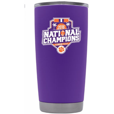 "*Limited Edition* Clemson ""Championship"" Tumbler - Powder Coated 20oz & 30oz"