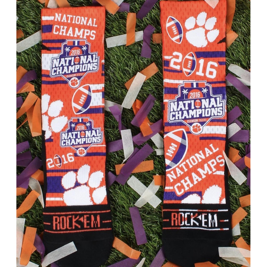 "Clemson ""We Are The Champions"" Socks"