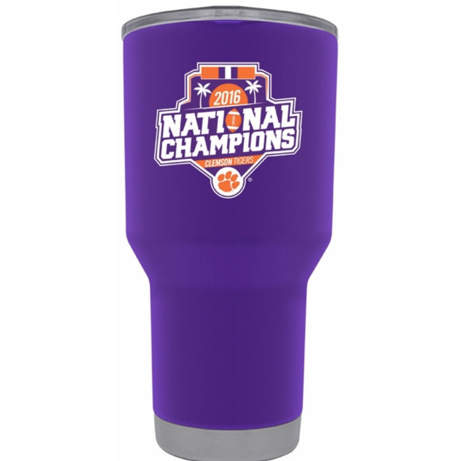 "Clemson ""Championship"" Tumbler - Powder Coated 20oz & 30oz"