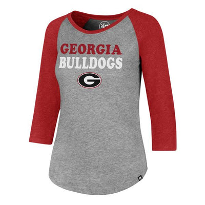 Georgia Bulldogs Ladies Raglan Tee