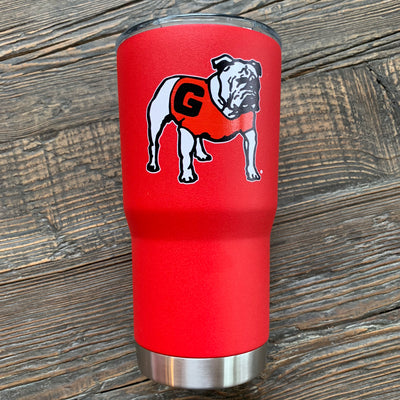 "UGA ""Retro Dawg"" Tumbler - Red Powder Coated"