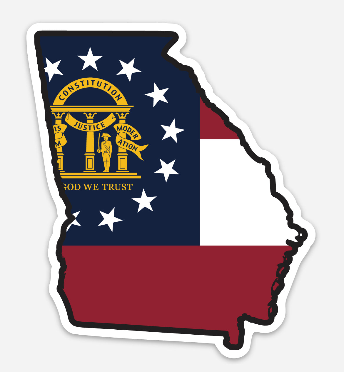 GA Flag - Decal by State & Co.