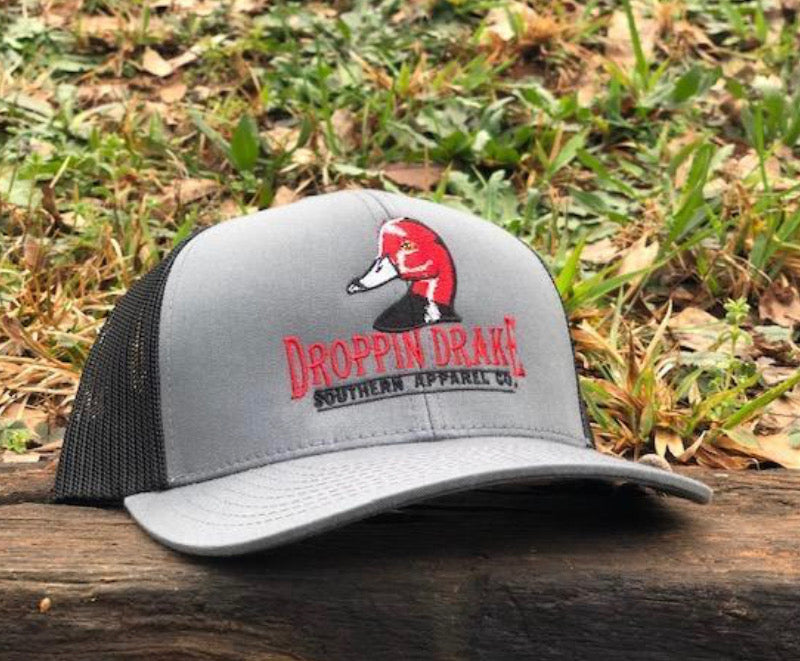 "Droppin' Drake Classic Redhead ""Gray on Black"" Hat"