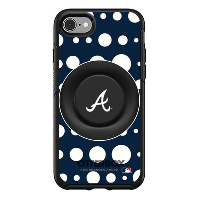 Atlanta Braves Otter + Pop Symmetry Case - Polka Dots