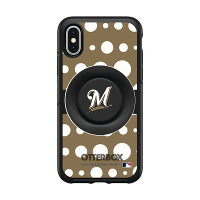 Milwaukee Brewers Otter + Pop Symmetry Case - Polka Dots