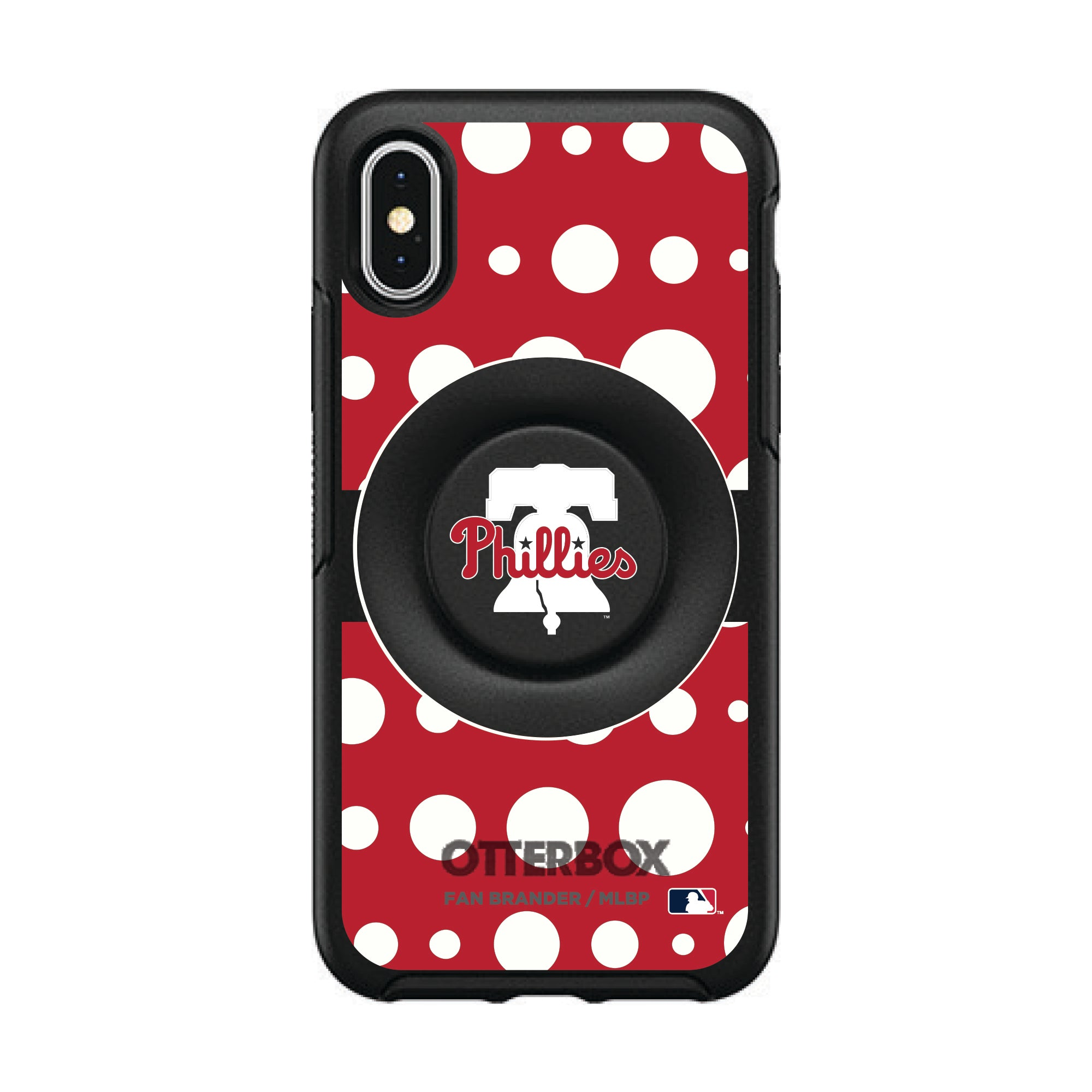 Philadelphia Phillies Otter + Pop Symmetry Case - Polka Dots
