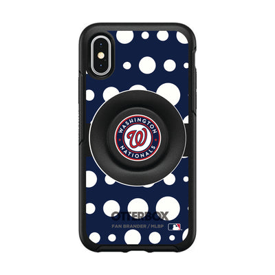 Washington Nationals Otter + Pop Symmetry Case - Polka Dots