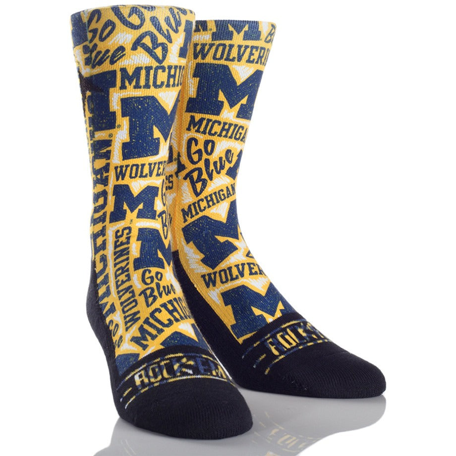 "Michigan ""Logo"" socks"