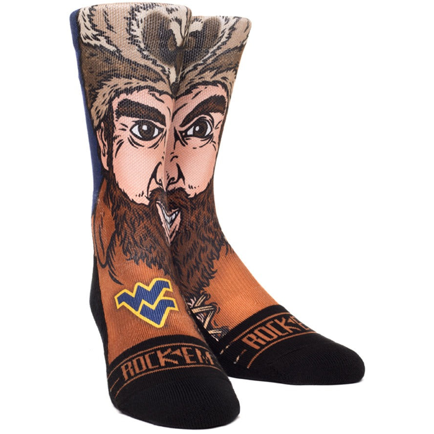 "WVU ""Mountaineer"" socks"