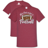"Southern Couture ""Love and Football"" Ladies T - Crimson"