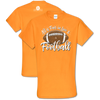 "Southern Couture ""Love and Football"" Ladies T - Orange"