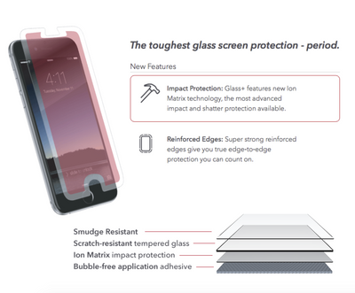 ZAGG Invisible Glass + for Apple iPhone