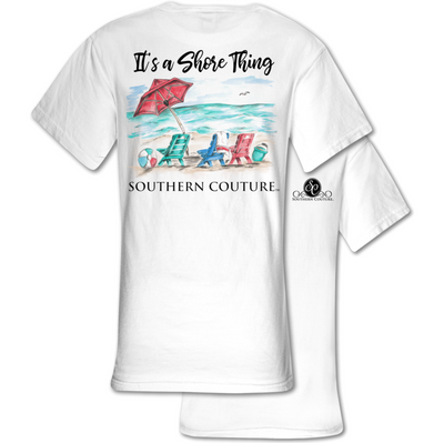 "Southern Couture ""It's a Shore Thing"" Ladies T - White"