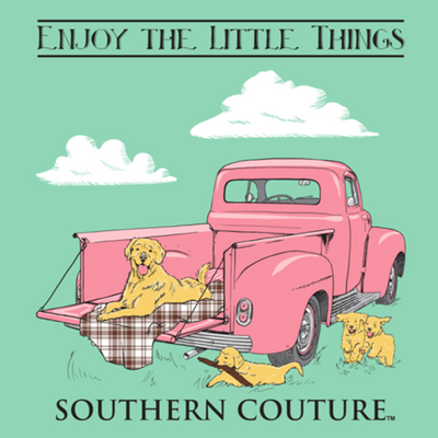 "Southern Couture ""Love the Little Things"" Ladies T - Mint"