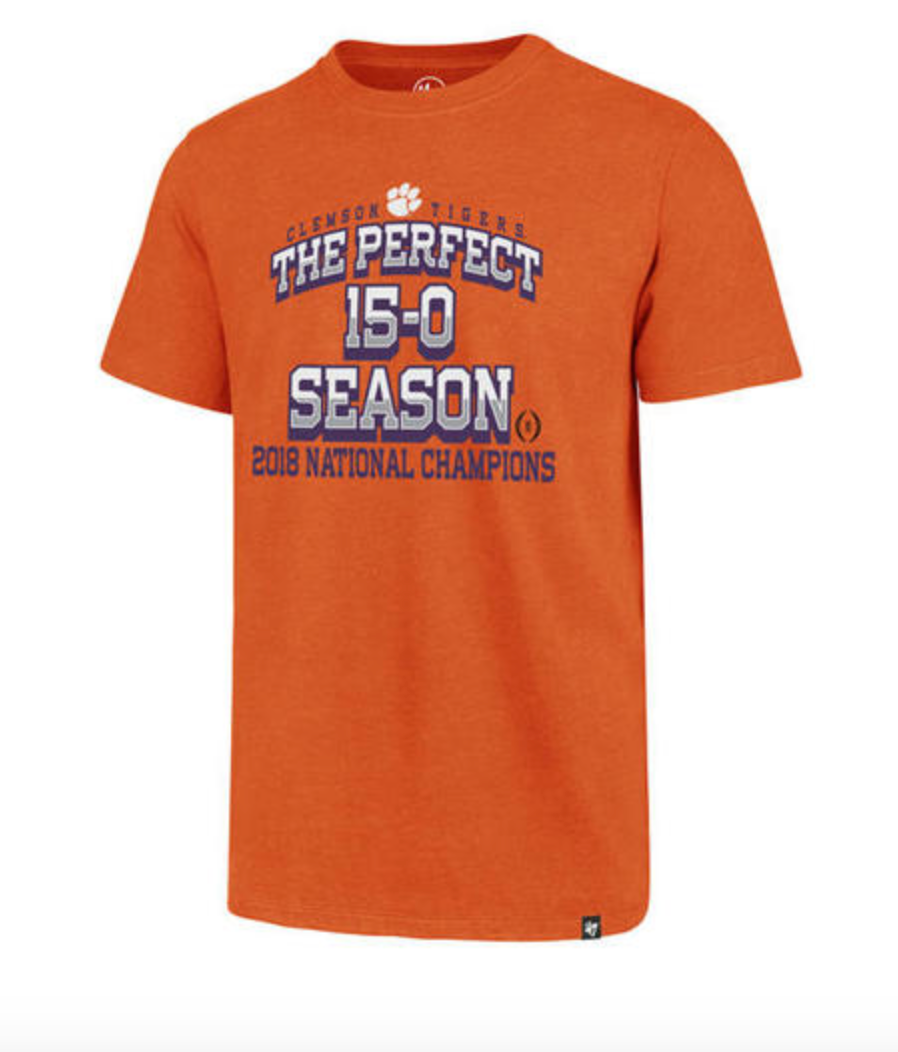 "Clemson ""Perfect Season""  National Champions"