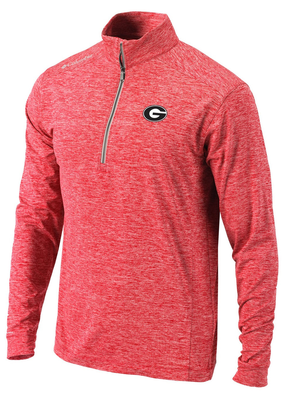 "UGA Red ""Columbia Omni-Wick Power Fade Half-Zip"" Jacket"