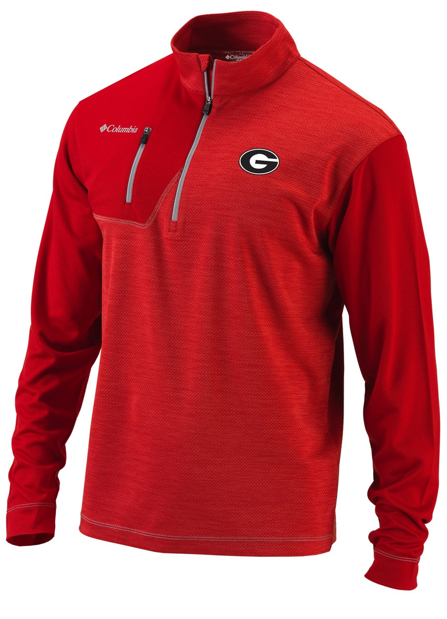 "Dawgs ""Columbia Omni-Heat Regulation Quarter Zip Pullover"" Jacket"