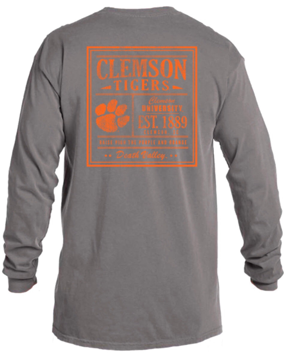 "Clemson ""Death Valley"" Comfort Color T"