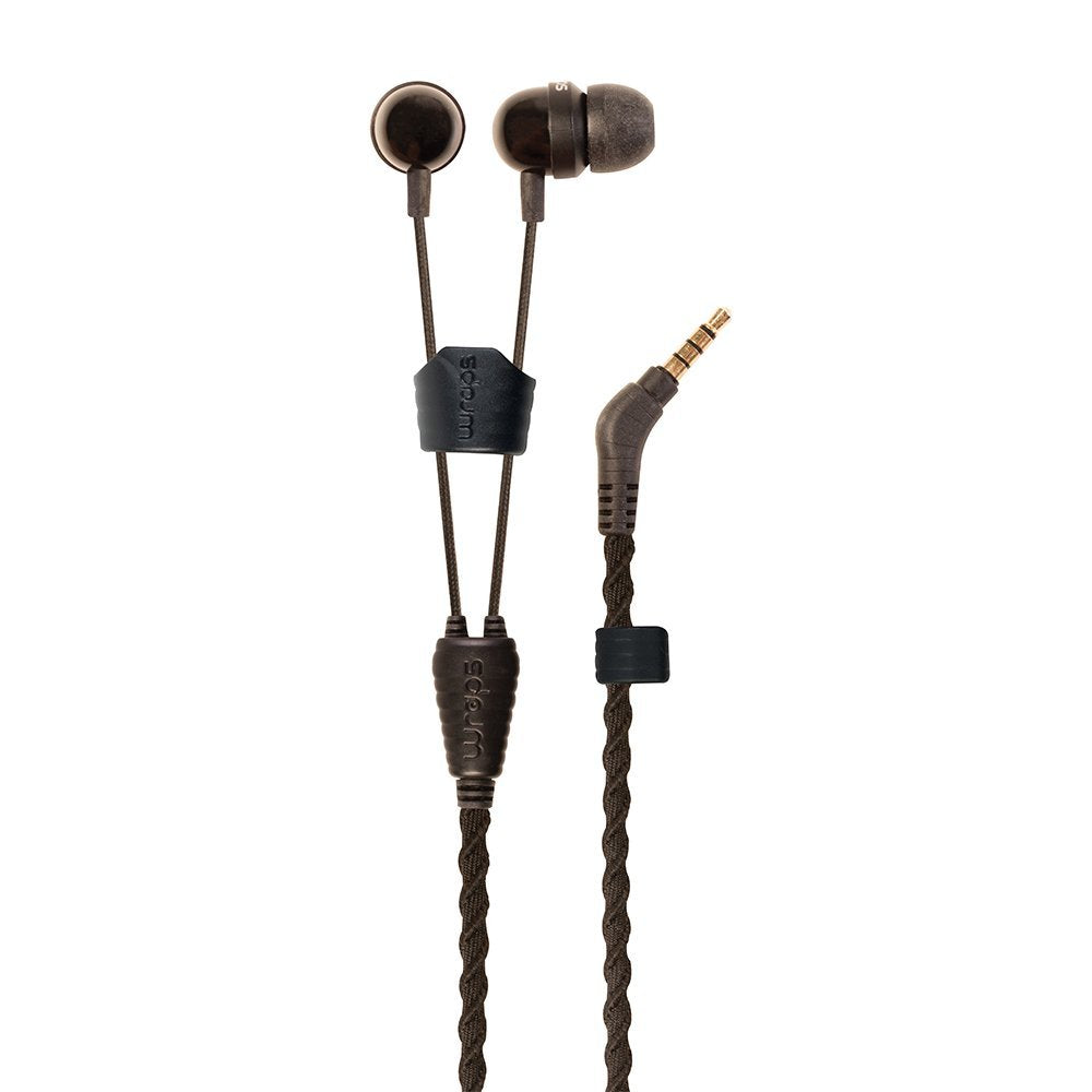 Wraps Talk Coal Earphones with Mic ~ Black