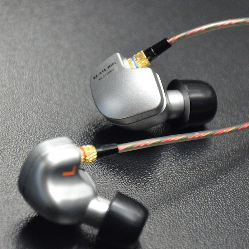 Knowledge Zenith ATE Sports Earphones with Mic ~Silver