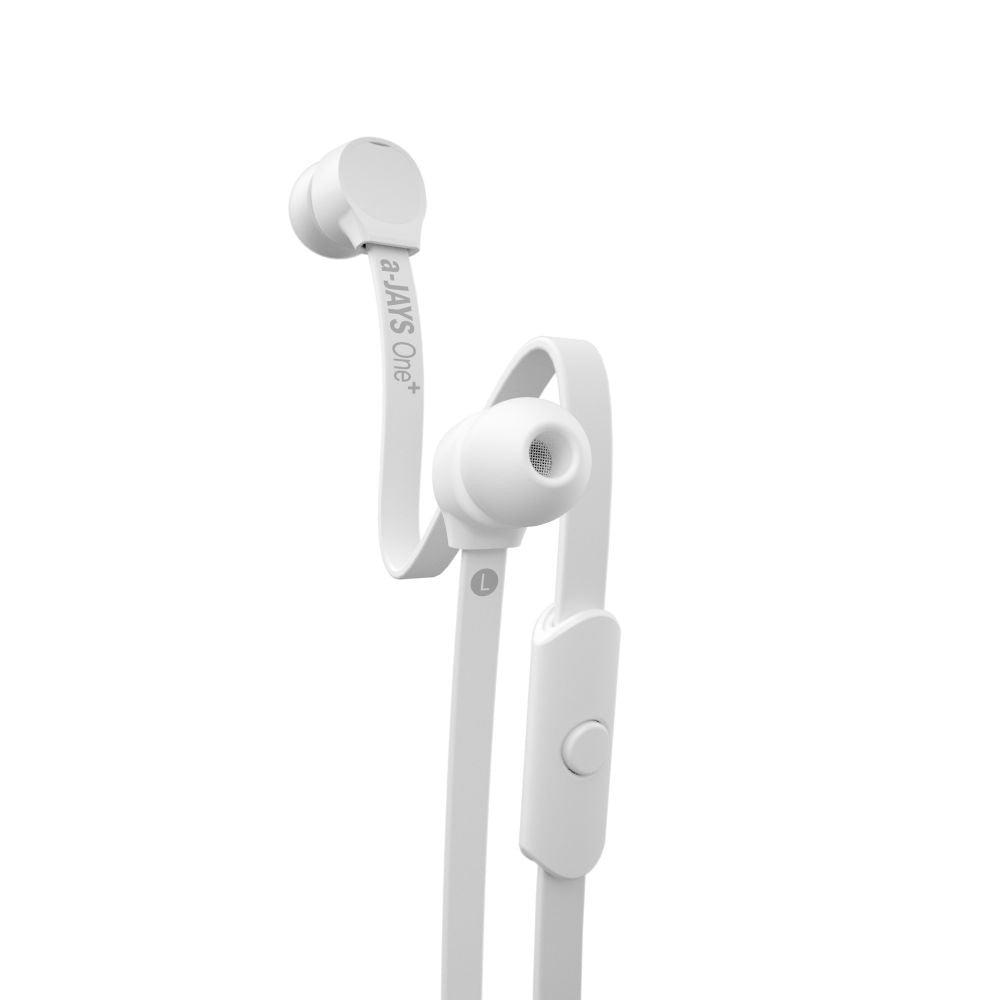 a-JAYS One+ Earphones with Mic and Remote ~ White