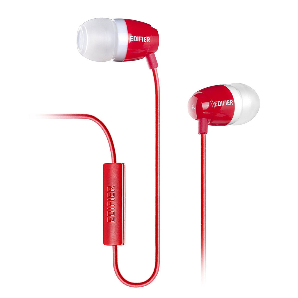 Edifier P210 Earphones with Mic ~ Red