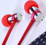 Remax 565i Earphones with Mic ~ Red