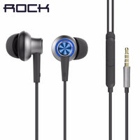 Rock Y5 Earphones with Mic ~ Blue