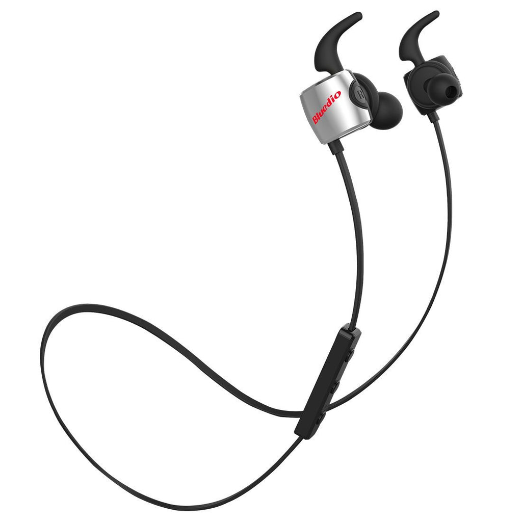Bluedio TE Bluetooth Earphones ~ Black/Silver