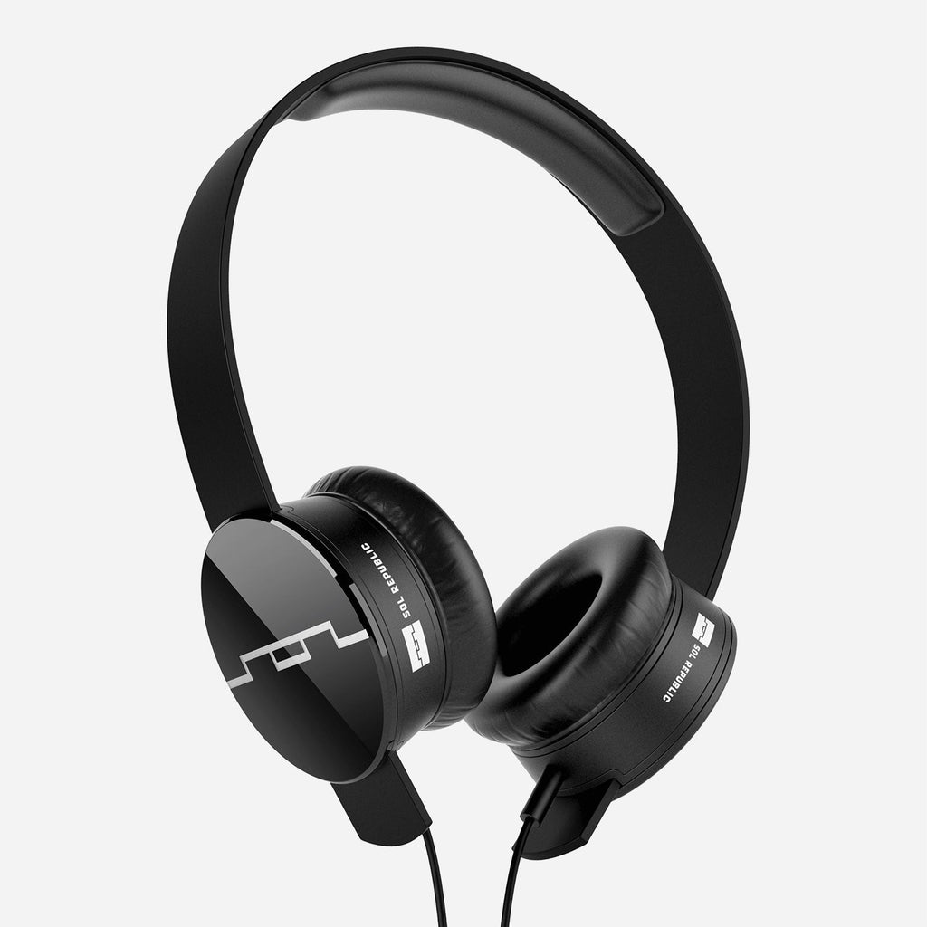 Sol Republic Tracks V8 Headphones with Mic and Music Control ~ Black