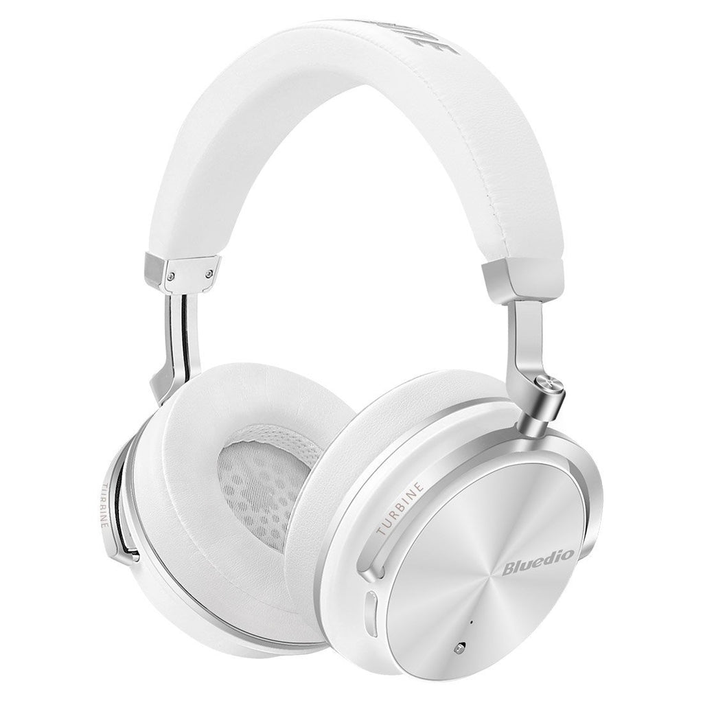 Bluedio T4S Bluetooth ANC Headphones ~ White