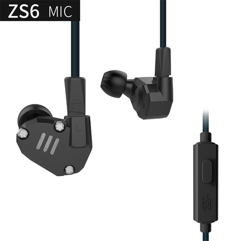 Knowledge Zenith ZS6 with Mic ~ Black